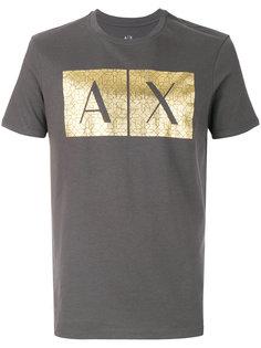 футболка с логотипом металлик  Armani Exchange