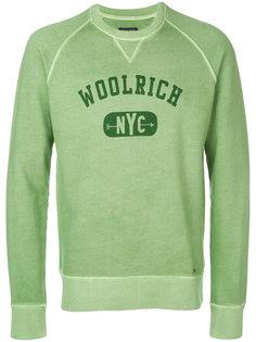 logo print sweatshirt Woolrich