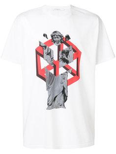 футболка с принтом статуи Givenchy