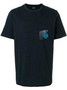 футболка с накладным карманом и нашивкой в виде зебры Ps By Paul Smith