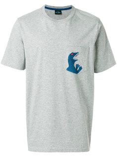 футболка с накладным карманом и принтом динозавра  Ps By Paul Smith