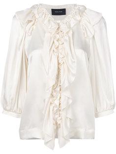 блузка на пуговицах с оборкой  Simone Rocha