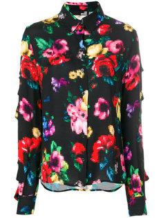 pixel floral print shirt Love Moschino