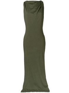 вечернее платье с драпировкой Rick Owens DRKSHDW
