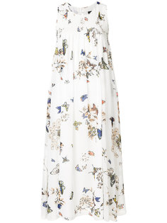 butterfly print midi dress Steffen Schraut