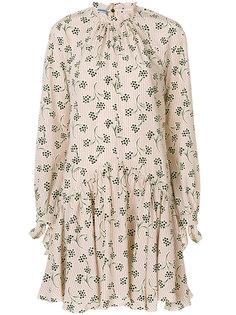 платье из крепдешина с принтом Prada