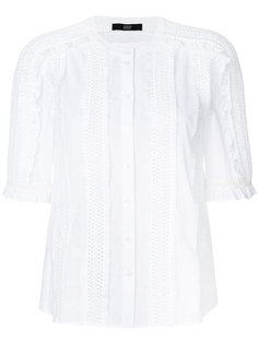 cutout and fringe detailed blouse Steffen Schraut