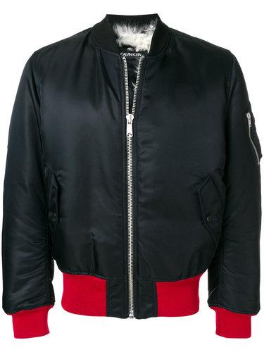 куртка-бомбер с контрастной отделкой  Calvin Klein