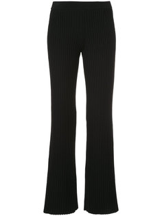 ribbed-knit flared trousers  MRZ
