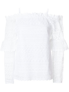 dropped shoulders crochet blouse Steffen Schraut