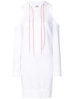 платье с капюшоном и вырезами на плечах Puma