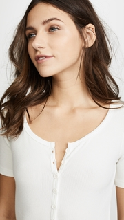 GETTING BACK TO SQUARE ONE Short Sleeve Henley Bodysuit