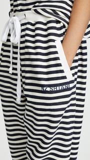Natasha Zinko Cotton Jersey Jogging Pants with Stripes