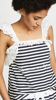Natasha Zinko Striped Lace Combo Tank