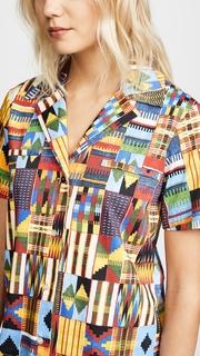 Stella Jean Collared Button Down Shirt