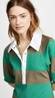 Tibi Rugby Polo Top