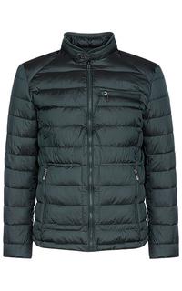 Утепленная куртка с трикотажной отделкой