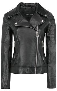 Кожаная куртка на молнии с декоративной строчкой La Reine Blanche