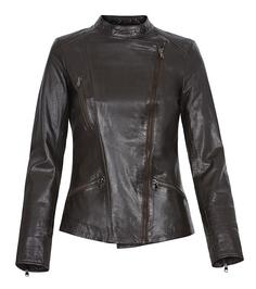 Кожаная куртка-косуха с асимметричной застежкой La Reine Blanche
