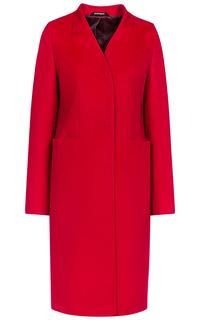 Красное шерстяное пальто Pompa