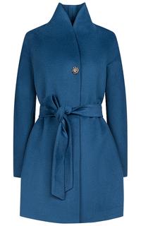 Синее пальто с поясом La Reine Blanche