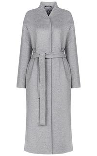Шерстяное пальто с поясом Pompa
