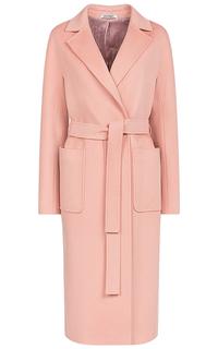 Розовое шерстяное пальто Pompa