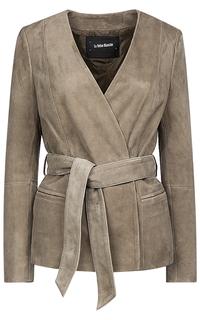 Замшевая куртка с поясом La Reine Blanche