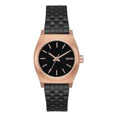 Кварцевые часы женские Nixon Small Time Teller Black/Rose/Black