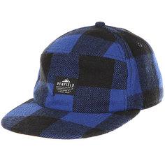Бейсболка с прямым козырьком Poler Sandown Buffalo Plaid Hat Blue