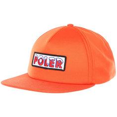 Бейсболка с прямым козырьком Poler Ice Caps Full Foam Trucker Burnt Orange