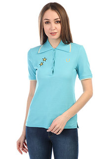 Поло Fred Perry Star Embroidered Pique Blue