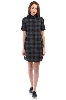 Платье женский Fred Perry Gingham Parka Detail Black/Gray
