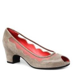 Туфли PAS DE ROUGE L812 бежево-серый