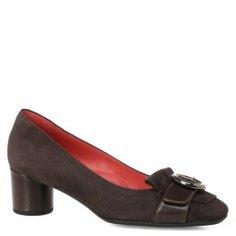 Туфли PAS DE ROUGE 1387 темно-коричневый