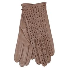 Перчатки AGNELLE PERFO TRESSE коричнево-розовый