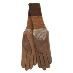 Перчатки AGNELLE CECILIA/AGNSUED/W серовато-коричневый