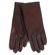 Перчатки AGNELLE CHLOE/BRAIDPAT/W бордово-коричневый