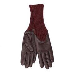 Перчатки AGNELLE CECILIA/A коричнево-бордовый