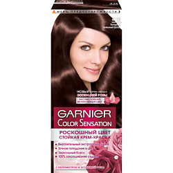 """GARNIER Стойкая крем-краска для волос """"Color Sensation, Роскошь цвета"""" 8.24 Янтарный светло-рыжий, 110 мл"""