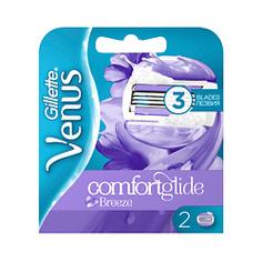 GILLETTE Cменные кассеты для бритья (cо встроенными подушечками с гелем) Venus Breeze 4 шт.
