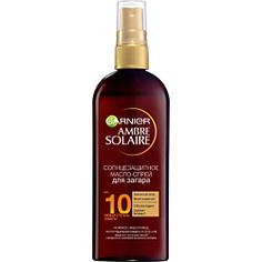 GARNIER Солнцезащитное масло-спрей для интенсивного золотистого загара, с маслом карите, водостойкое, SPF 10 150 мл