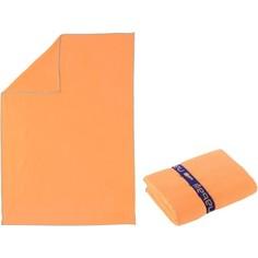 Полотенце Из Микрофибры Светло–оранжевое Очень Компактное Размер М 65 X 90 См Nabaiji