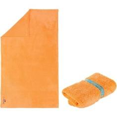 Полотенце Из Микрофибры Светло–оранжевое Очень Мягкое Размер L 80 X 130 См Nabaiji
