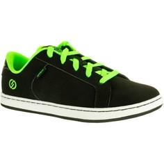 Кеды–сникерсы Для Скейта Детские Черные Зеленые Oxelo