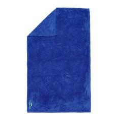 Полотенце Из Микрофибры Очень Мягкое Синее Размер L 80 X 130 См Nabaiji