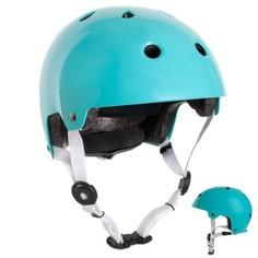 Шлем Для Катания На Роликах, Скейтборде, Самокате И Велосипеде Play 5 Бирюзовый Oxelo