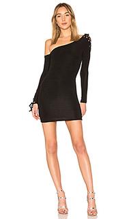Облегающее платье с длинным рукавом maddux - h:ours