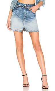 Джинсовая юбка с высокой посадкой milla - GRLFRND
