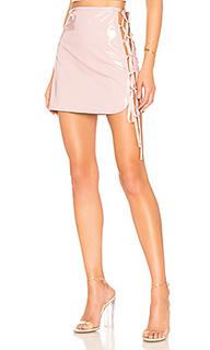Мини юбка с высоким поясом siren - h:ours